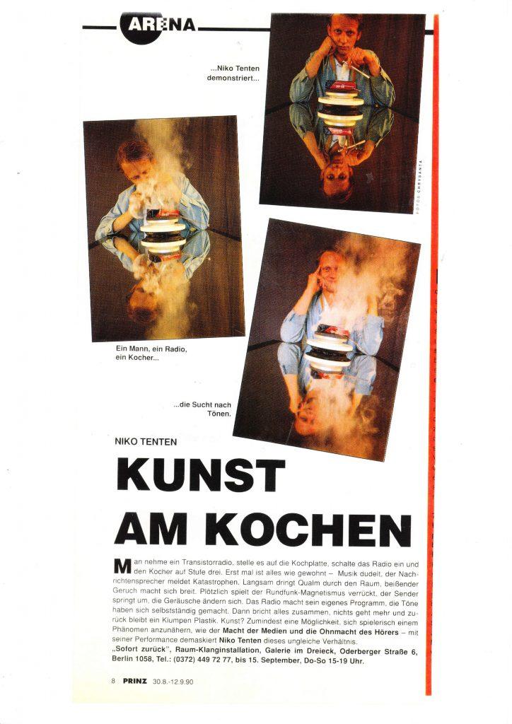 Niko Tenten: Kunst am Kochen. Foto: Chrysanta
